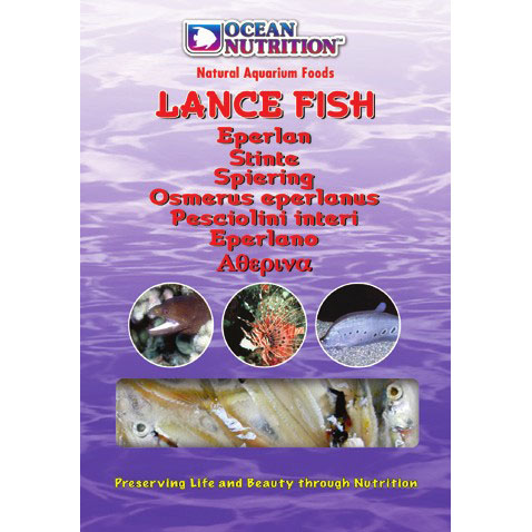 Ocean nutrition lance fish marines freshwater for Frozen fish food