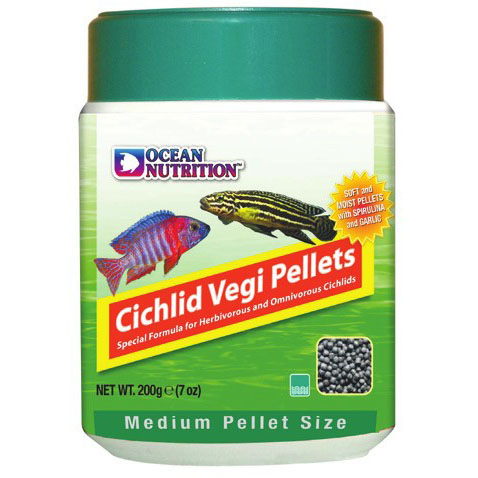 Cichlid Veggie Pellets (small or medium pellets)